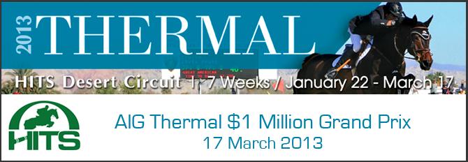 meredith michaels beerbaum wins aig thermal 1 million grand prix 2013. Black Bedroom Furniture Sets. Home Design Ideas